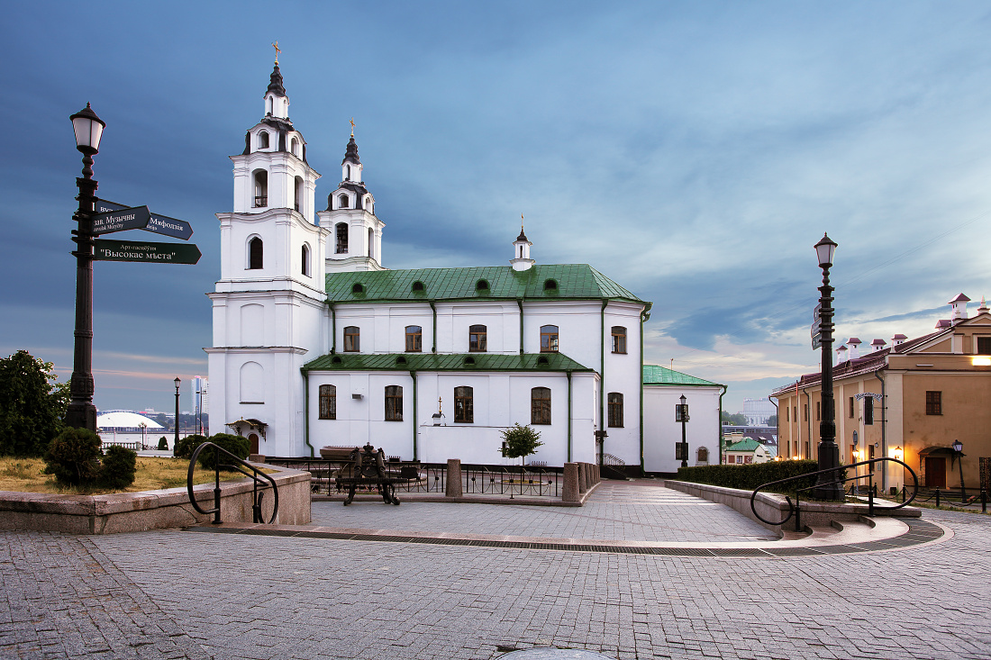 Belarus - Minsk with Orthodox Cathedral
