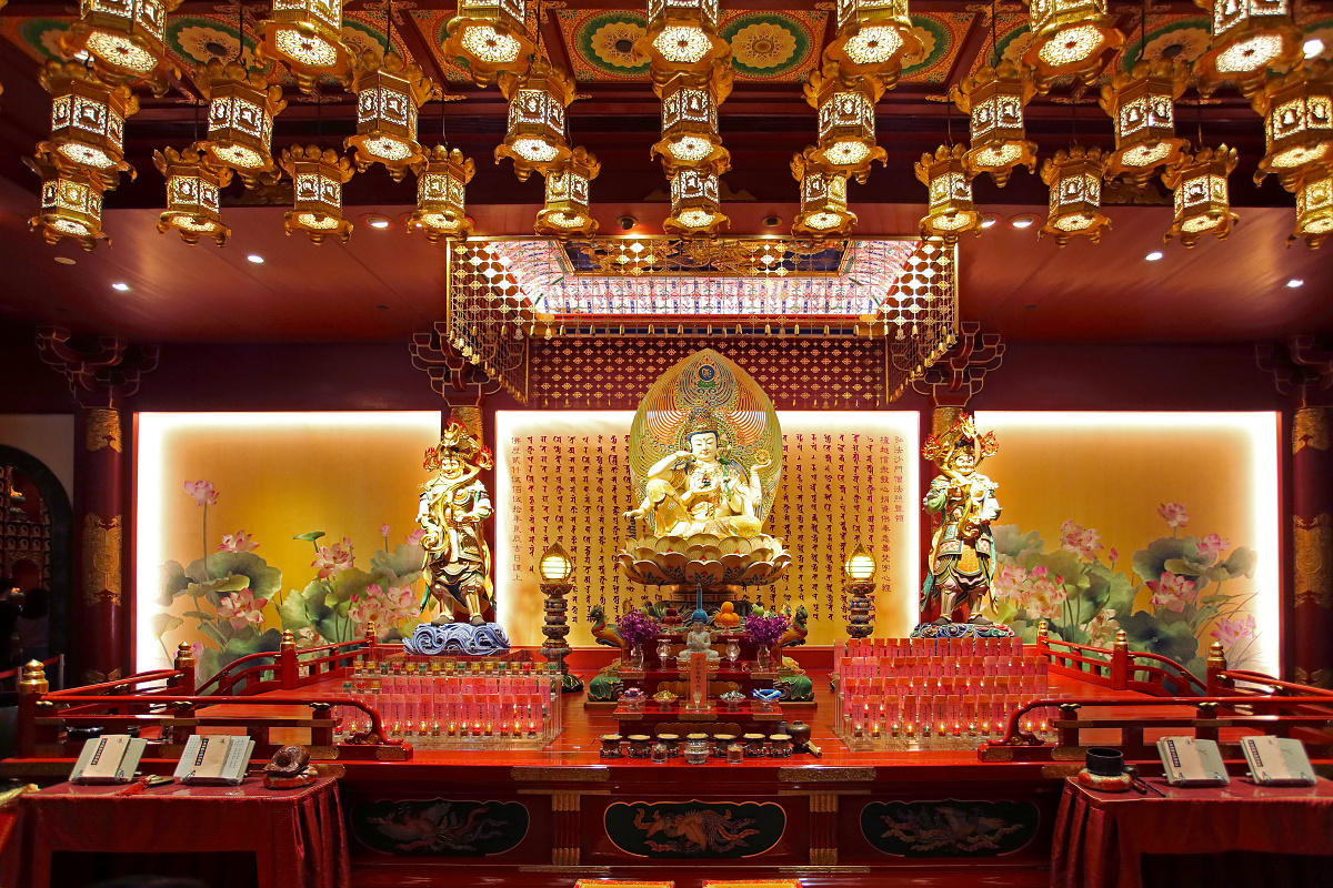 Inside in Buddha Tooth Relic - Singapore