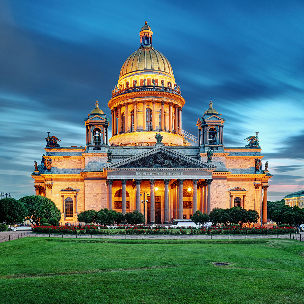 Isaac Cathedral at night