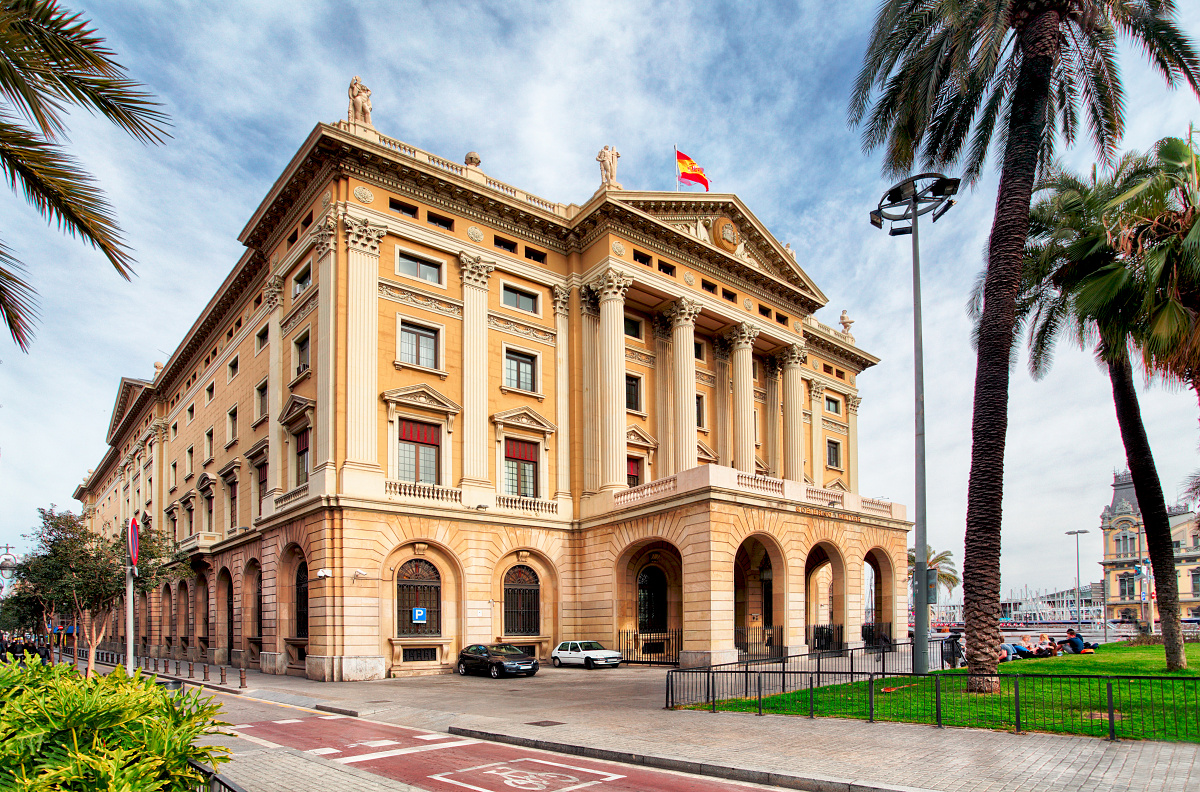Military government building in Barcelona