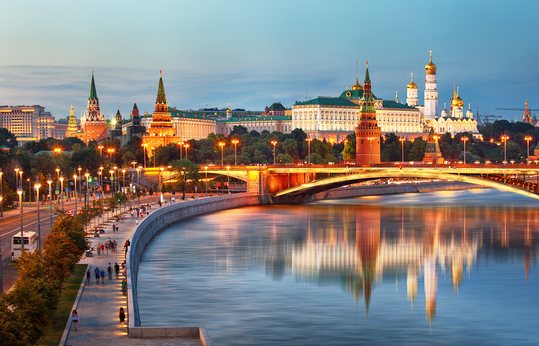 Moscow city with Kremlin