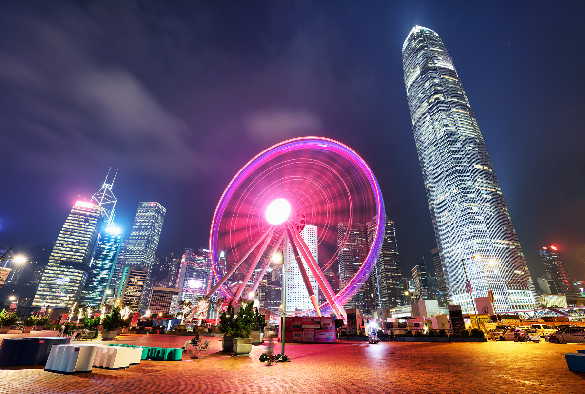 Observation Wheel in Hong Kong.