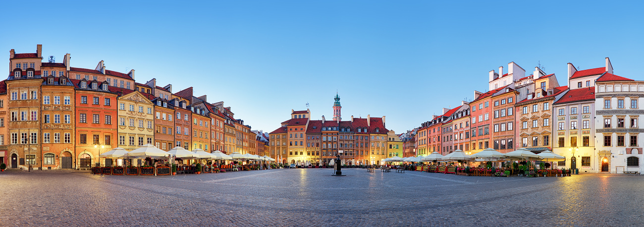 Panorama of Old town square, Warsaw