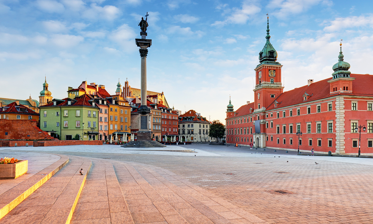Royal square in Warsaw