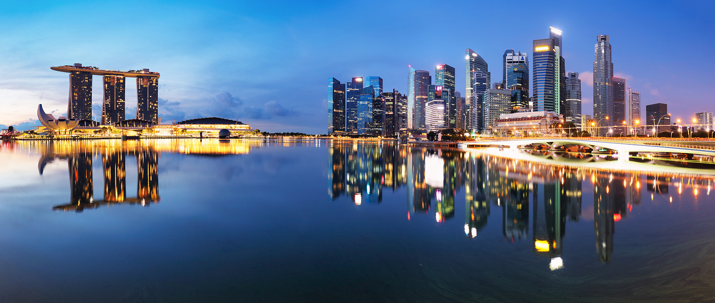 Singapore Marina bay - panorama