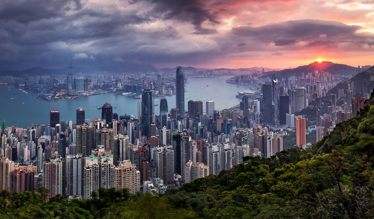 Sunrise on Victoria peak
