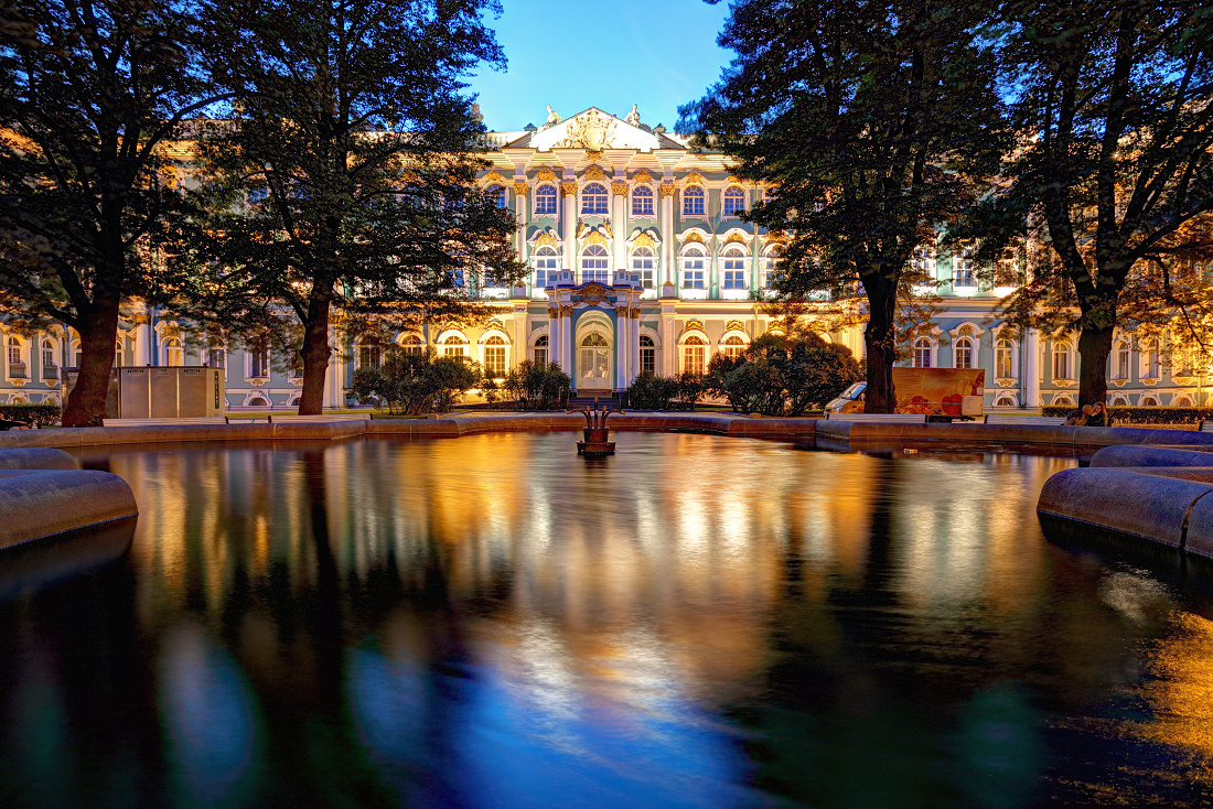 Winter Palace - Hermitage at night