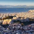 Aerial view of Athens with Acropolis