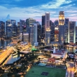 Aerial view - Singapore downtown