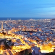 Barcelona city at night, Spain.
