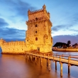 Belem tower at night
