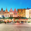 Bruges - Panorama of Market place