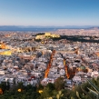 Cityscape of Athens with  Acropolis