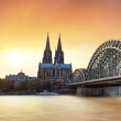 Cologne at sunset, Germany