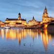 Dresden skyline on the Elbe