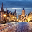 Ghent  during night,