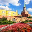 Kremlin in Moscow with flowers