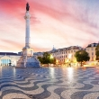 Lisbon - Panorama of Rossio square