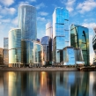 Modern skyscrapers business center Moscow -...