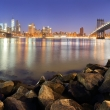New York panorama with bridges.