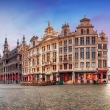 Panorama of Grand Place in Brussels