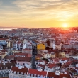 Panorama of Lisbon at sunset