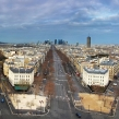 Panoramic view of Paris from Arc de Triomphe