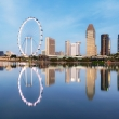 Singapore cityscape with Flyer wheel