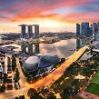 Singapore panoranora at sunrise