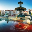 Sunrise in Rossio square - Lisbon