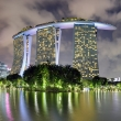 Super tree garden with Marina bay Sand