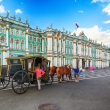 Winter Palace with horses