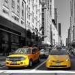 Yellow taxi in 5th Avenue